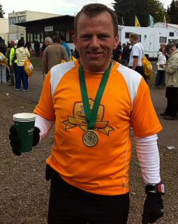 Eddy nach Rennsteig-Finish