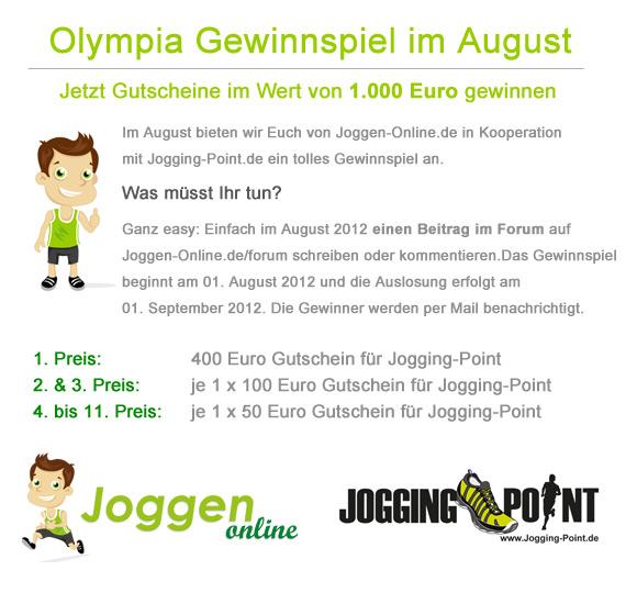 Gewinnspiel von Joggen Online