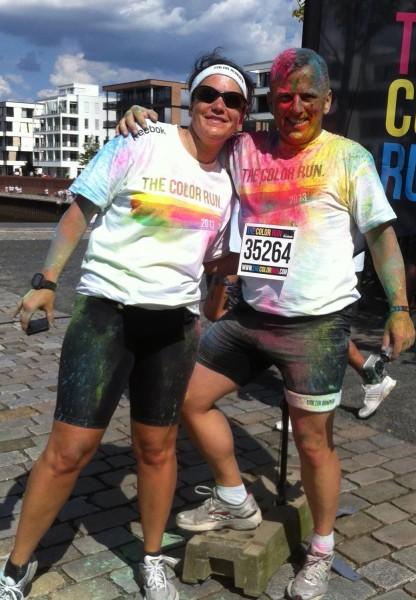 Kathy & Eddy beim Color Run