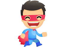 funny cartoon superhero © artenot - Fotolia.com