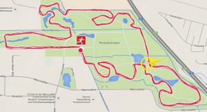 5km Rundkurs im Rhododendron-Park