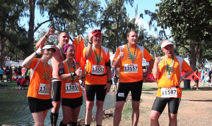 Tiger Balm Team nach dem Honolulu Marathon