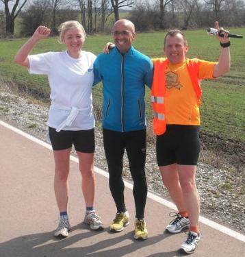 Renate, Emin, Eddy beim Lebens-Lauf
